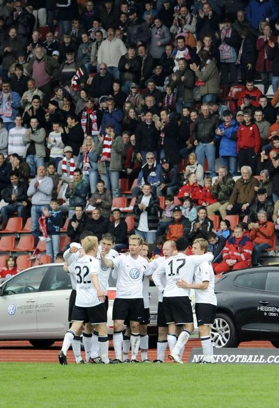 KSV Hessen - SpVgg Unterhaching II: Jubelnde Fans
