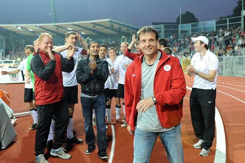 KSV Hessen - 1. FC N�rnberg II: Mirko Dickhaut nach Abpfiff