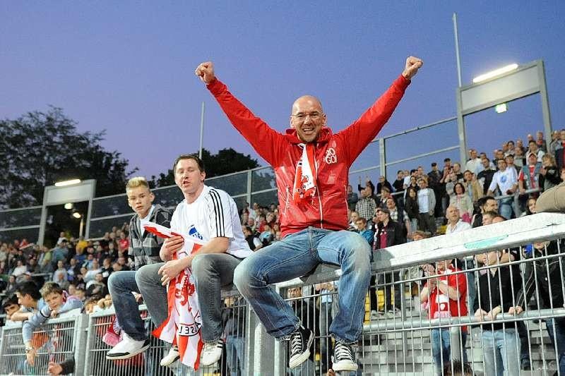KSV Hessen - 1. FC N�rnberg II: Fanjubel