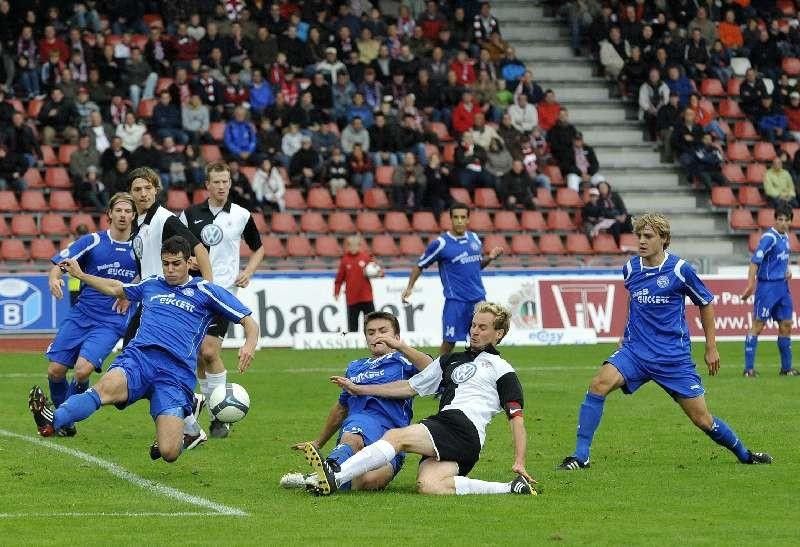 KSV Hessen Kassel - FC Bayern Alzenau: Marcel Stadel, Thorsten Bauer, Enrico Gaede