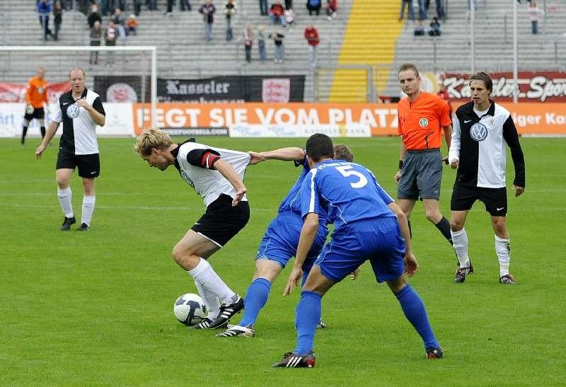 KSV Hessen Kassel - FC Bayern Alzenau: Sebastian Busch, Enrico Gaede, Kevin W�lk