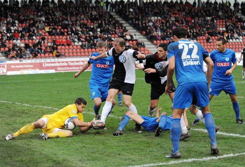 KSV Hessen - Stuttgarter Kickers: Christoph Keim, Mentor Latifi