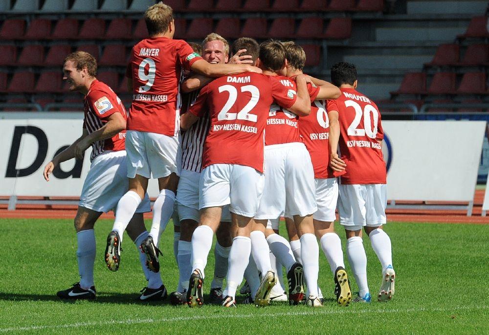 KSV Hessen - Greuther F�rth II: Jubel