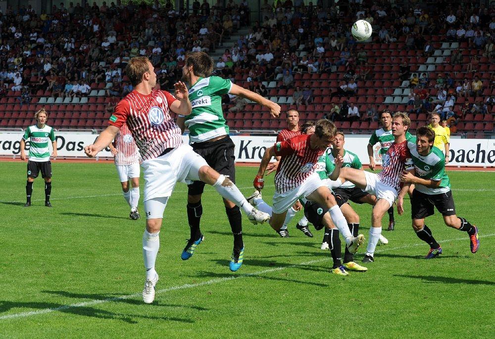 KSV Hessen - Greuther F�rth II: Dennis Wehrendt, Tim Knipping, Enrico Gaede