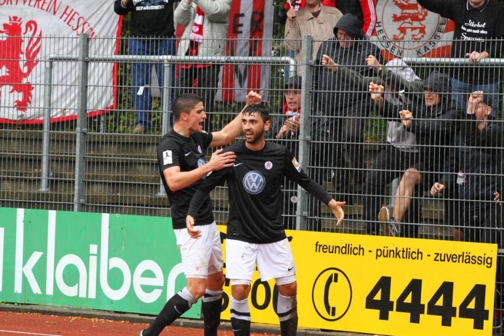 SC Pfullendorf - KSV Hessen: Jubel
