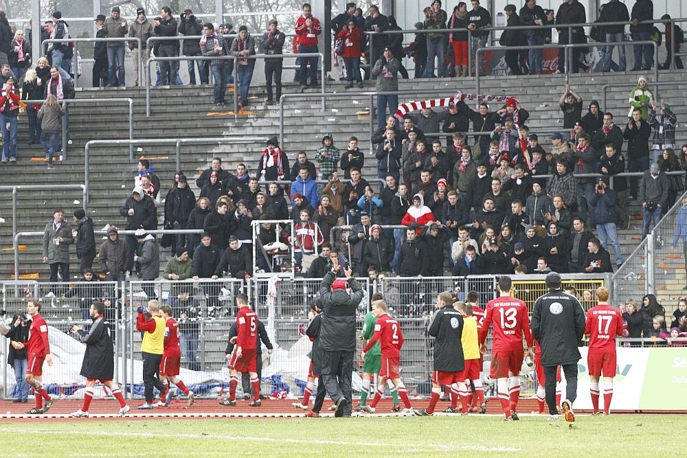 KSV Fans und Mannschaft nach der Niederlage Gemeinsam durch dick und d�nn!