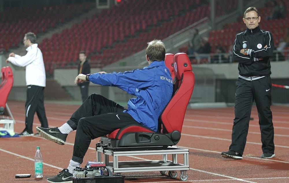 Angespannte Trainer