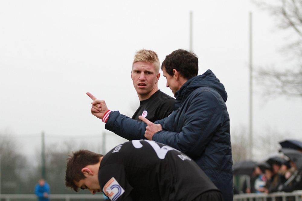 Trainer Mink, Steffen Dieck und Marco Dawid