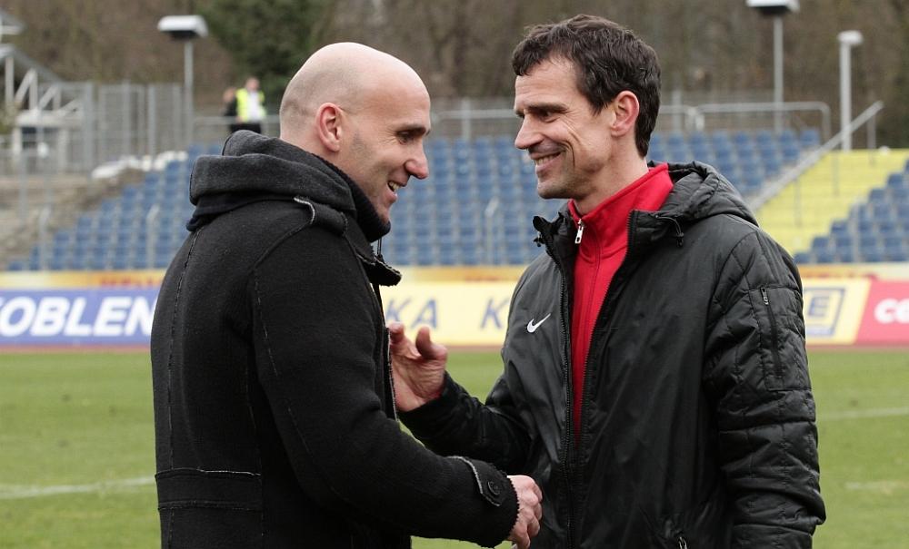 Andre Schubert und Matthias Mink