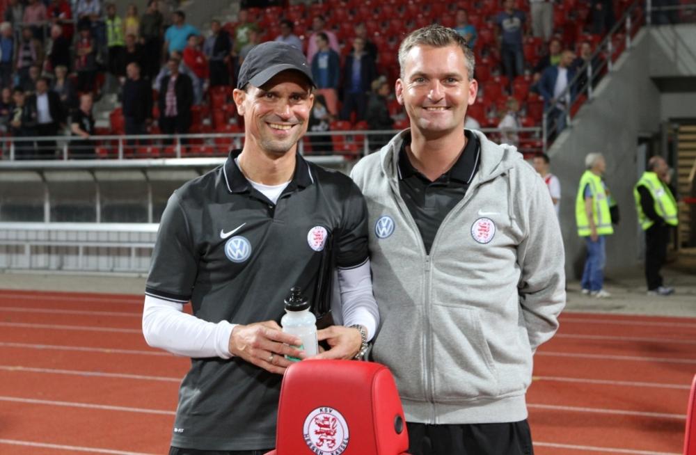 Matthias Mink und Tobias CramerGl�ckliche Trainer