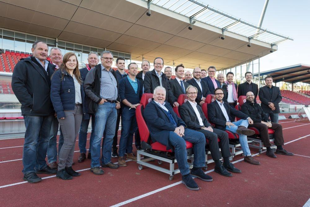 Regionalmanagement NordHessen zu Gast beim KSV Hessen Kassel im Auestadion. Foto: Heiko Meyer