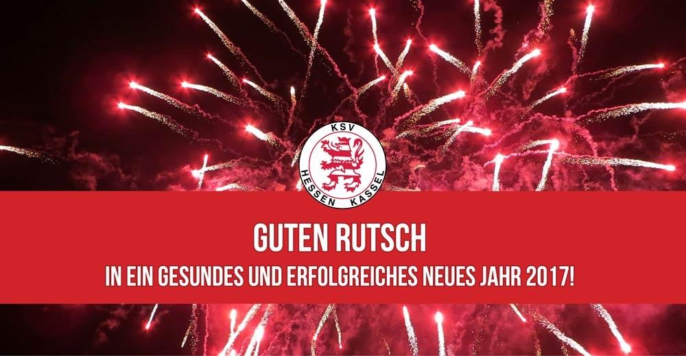 Der KSV Hessen Kassel wünscht einen Guten Rutsch ins Jahr 2017!