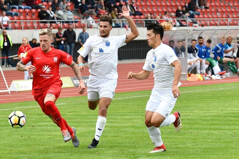 Lotto Hessenliga 2018/2019, KSV Hessen Kassel, VFB Ginsheim, Endstand 2:2, Tim Philipp Brandner (KSV Hessen Kassel)