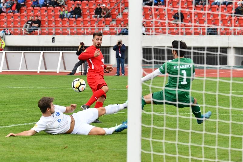 Lotto Hessenliga 2018/2019, KSV Hessen Kassel, VFB Ginsheim, Endstand 2:2, Marco Dawid (KSV Hessen Kassel)