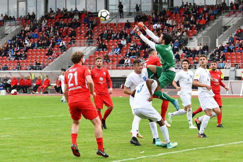 Lotto Hessenliga 2018/2019, KSV Hessen Kassel, VFB Ginsheim, Endstand 2:2