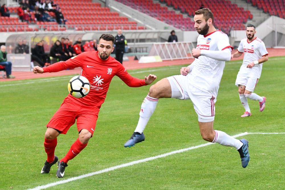 Lotto Hessenliga 2018/2019, KSV Hessen Kassel, FC Ederbergland, Endstand 4:1, Marco Dawid (KSV Hessen Kassel)