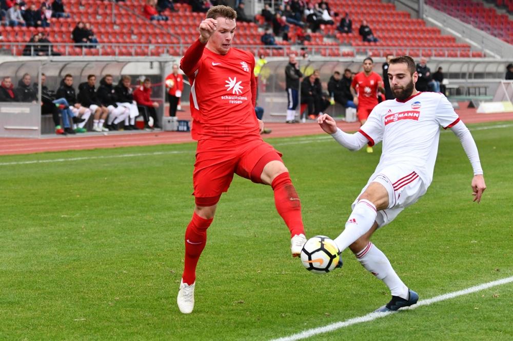 Lotto Hessenliga 2018/2019, KSV Hessen Kassel, FC Ederbergland, Endstand 4:1, Jan-Philipp H�user (KSV Hessen Kassel)