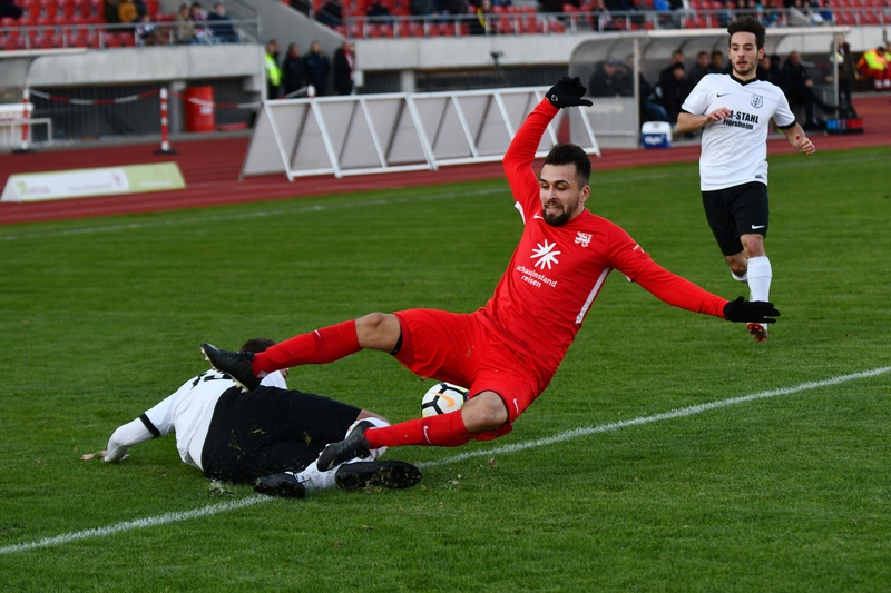 Lotto Hessenliga 2018/2019, KSV Hessen Kassel, FC Eddersheim, Endstand 3:0, Marco Dawid (KSV Hessen Kassel)