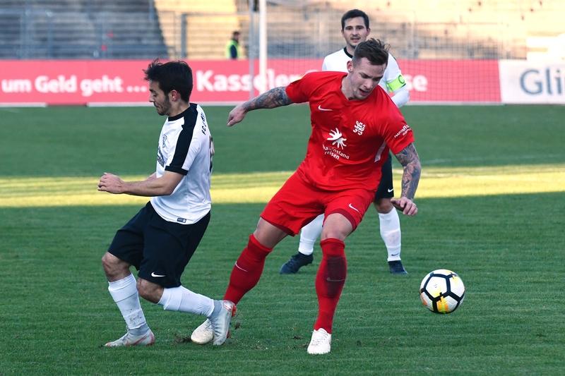 Lotto Hessenliga 2018/2019, KSV Hessen Kassel, FC Eddersheim, Endstand 3:0, Jan-Philipp H�user (KSV Hessen Kassel)
