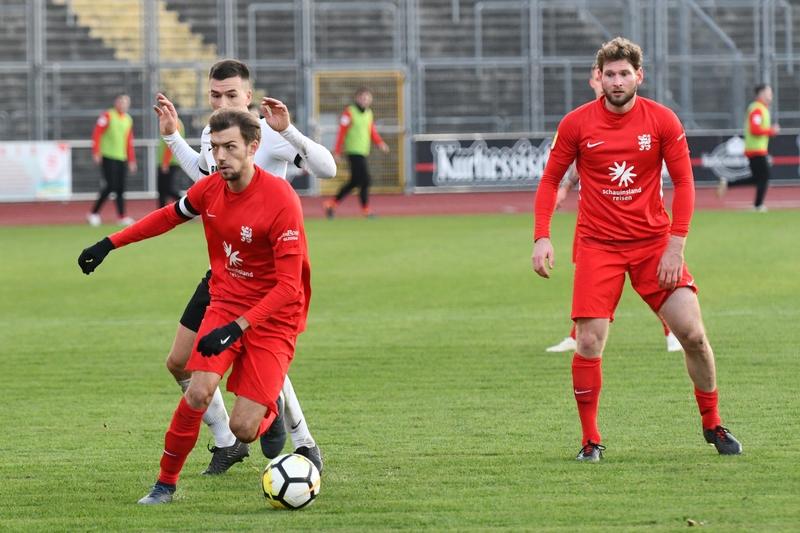 Lotto Hessenliga 2018/2019, KSV Hessen Kassel, FC Eddersheim, Endstand 3:0, Frederic Brill (KSV Hessen Kassel)