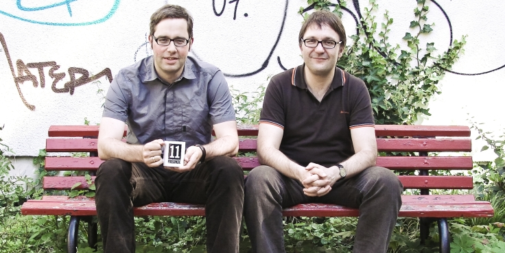 11 FREUNDE-Redakteure Philipp KOSTER (links) und Jens KIRSCHNECK