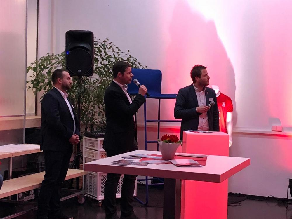 Neujahrsempfang 2019: Tobias Zeller, Daniel Bettermann, Michael Krannich