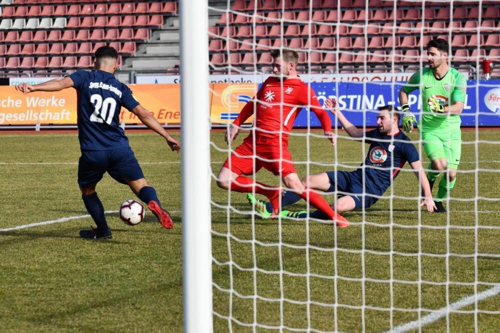 Lotto Hessenliga 2018/2019, KSV Hessen Kassel, Spvgg. Neu-Isenburg, Endstand 3:1, Sebastian Schmeer (KSV Hessen Kassel)