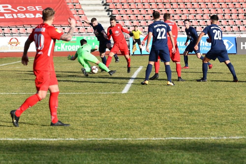 Lotto Hessenliga 2018/2019, KSV Hessen Kassel, Spvgg. Neu-Isenburg, Endstand 3:1, Marco Dawid (KSV Hessen Kassel)