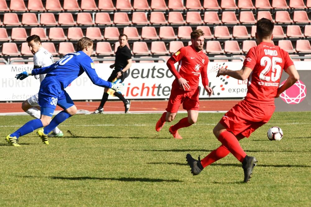 Lotto Hessenliga 2018/2019, KSV Hessen Kassel, FC Giessen, Endstand 0:0, Sebastian Schmeer (KSV Hessen Kassel), Marco Dawid (KSV Hessen Kassel)