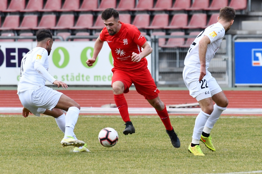 Lotto Hessenliga 2018/2019, KSV Hessen Kassel, FC Giessen, Endstand 0:0, Marco Dawid (KSV Hessen Kassel)