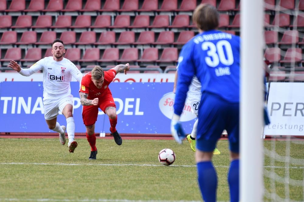 Lotto Hessenliga 2018/2019, KSV Hessen Kassel, FC Giessen, Endstand 0:0, Tim-Philipp Brandner (KSV Hessen Kassel)