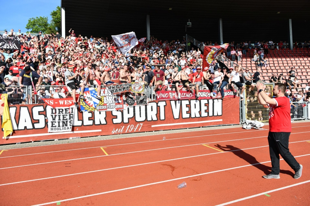 Lotto Hessenliga 2018/2019, KSV Hessen Kassel, KSV Baunatal, Endstand 3:1; Tobias Zeller