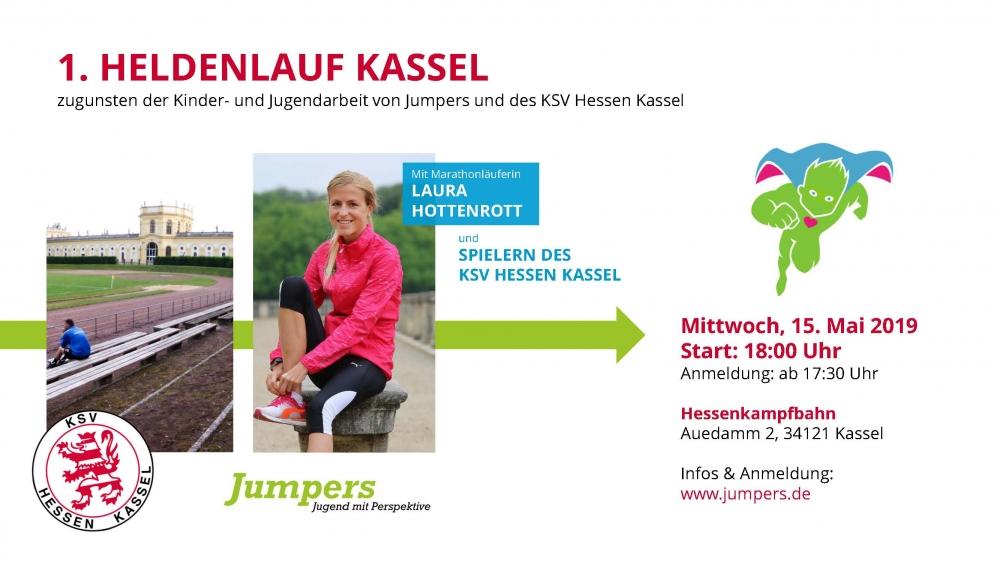 Heldenlauf Jumpers Spendenaktion auf der Hessenkampfbahn am 15. Mai 2019