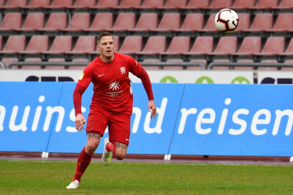 Lotto Hessenliga 2018/2019, KSV Hessen Kassel, SC Waldgirmes, Endstand 2:2, Tim Philipp Brandner (KSV Hessen Kassel)