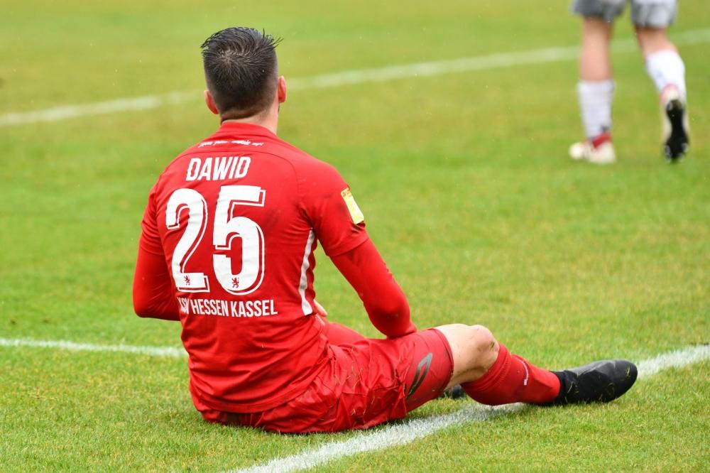 Lotto Hessenliga 2018/2019, KSV Hessen Kassel, SC Waldgirmes, Endstand 2:2, Marco Dawid (KSV Hessen Kassel)