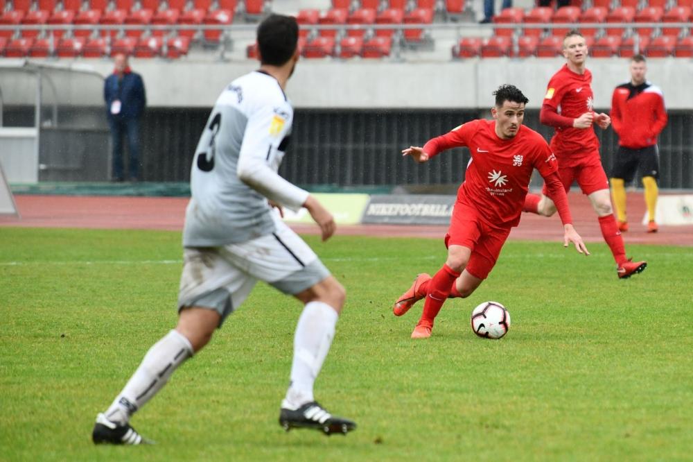 Lotto Hessenliga 2018/2019, KSV Hessen Kassel, SC Waldgirmes, Endstand 2:2, Joannis Mitrou (KSV Hessen Kassel)