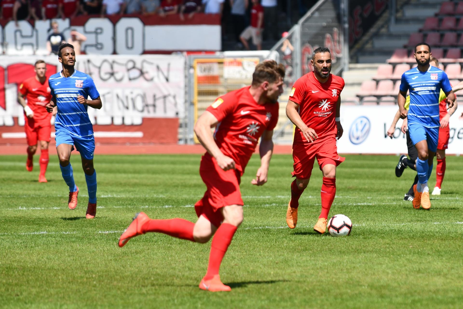 Lotto Hessenliga 2018/2019, KSV Hessen Kassel, T�rk G�c� Friedberg, Endstand 4:0, Mahir Sagl�k (KSV Hessen Kassel)