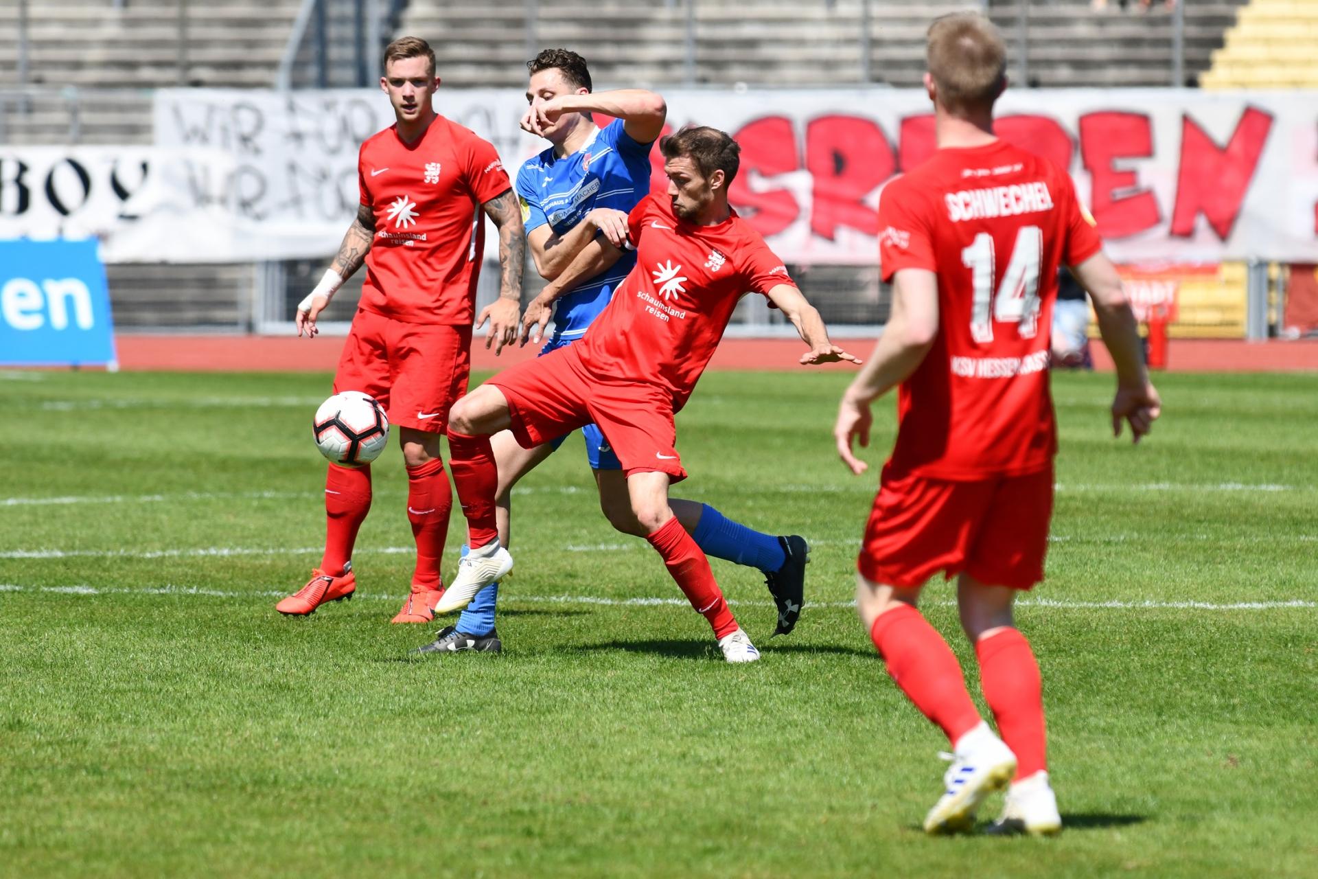 Lotto Hessenliga 2018/2019, KSV Hessen Kassel, T�rk G�c� Friedberg, Endstand 4:0, Frederic Brill (KSV Hessen Kassel)