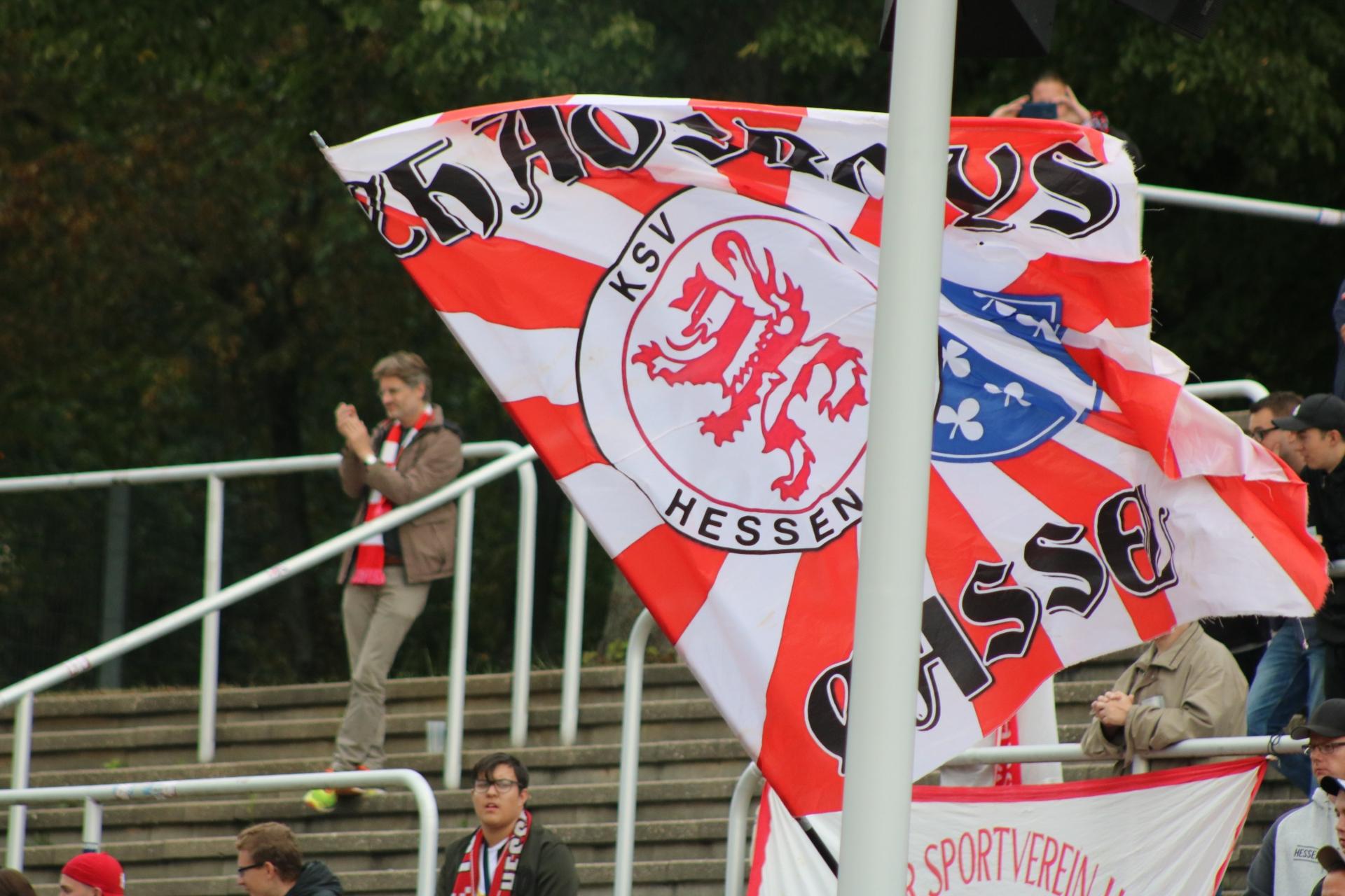 Fahne im Fanblock