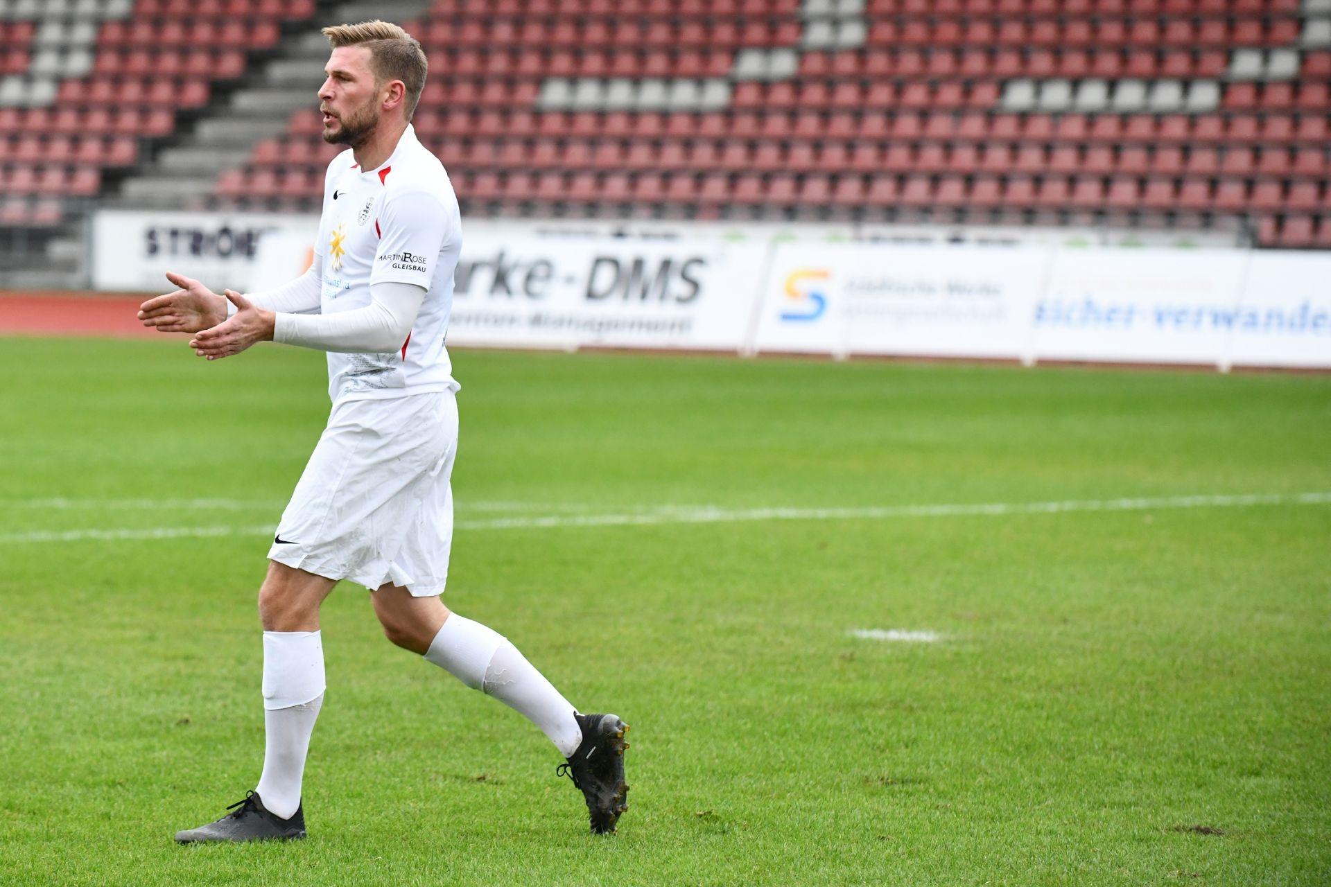 KSV Hessen Kassel, Rot-Weiss Walldorf, Endstand 4:0, Sebastian Schmeer (KSV Hessen Kassel)