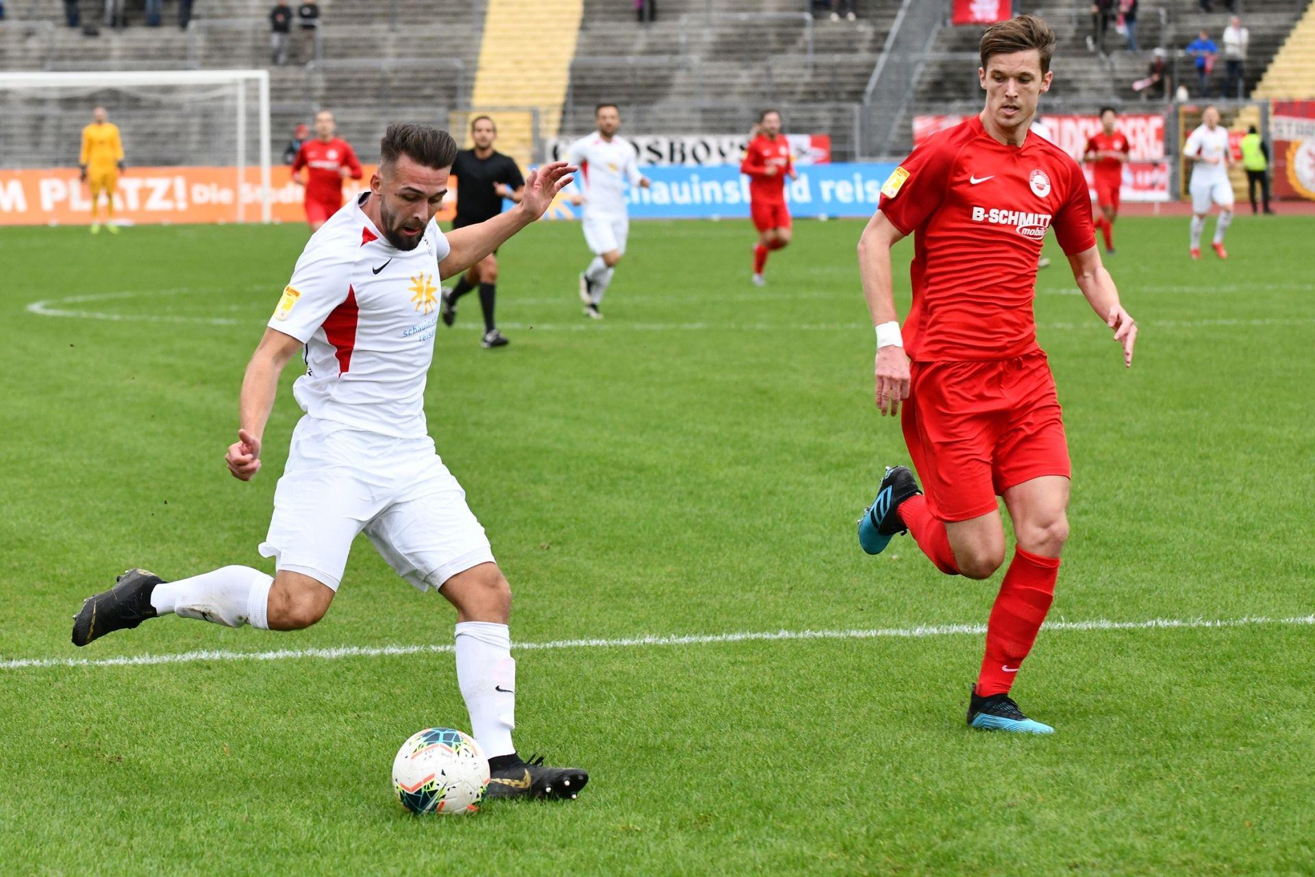 KSV Hessen Kassel, Rot-Weiss Walldorf, Endstand 4:0, Marco Dawid (KSV Hessen Kassel)