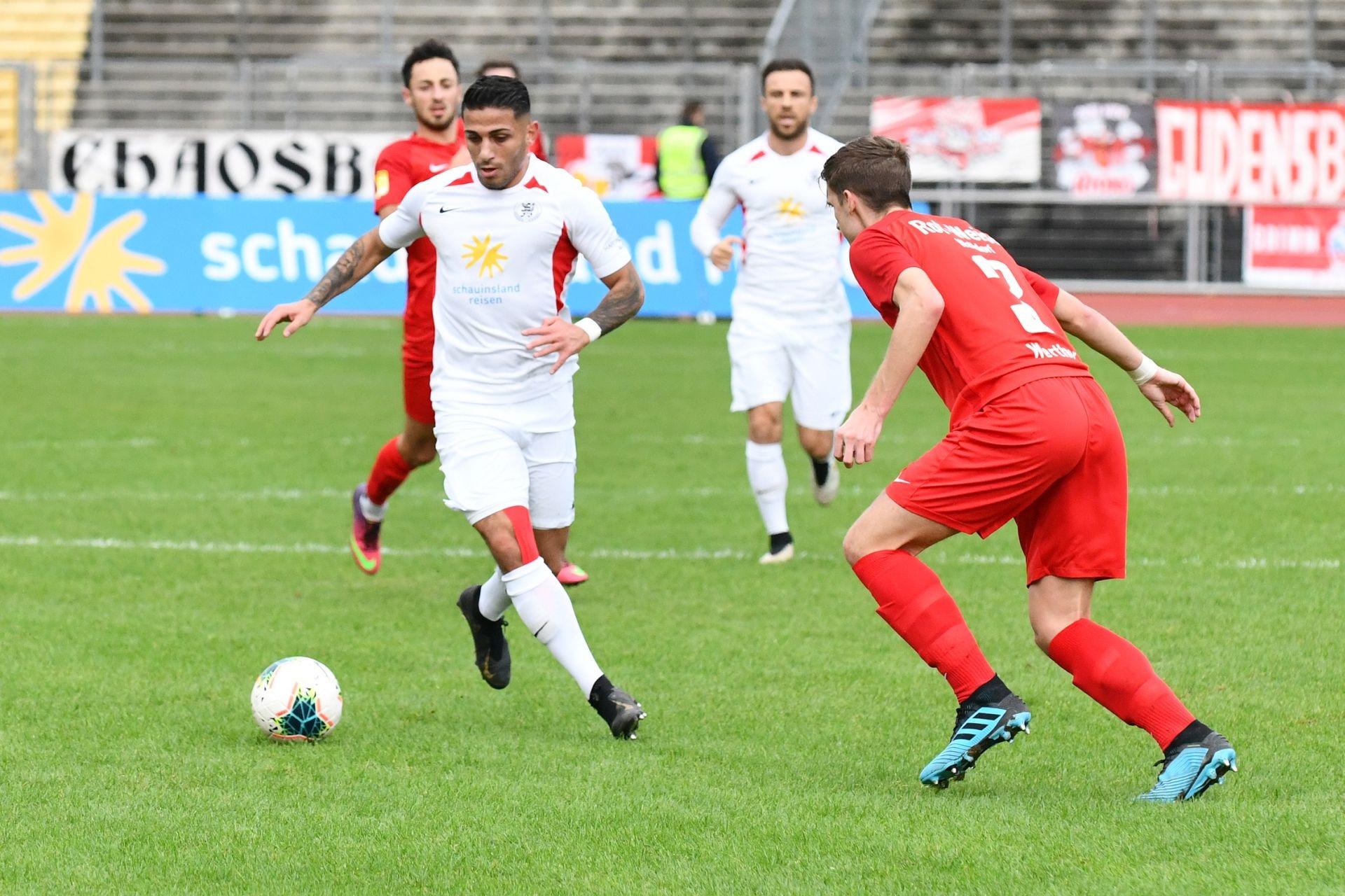 KSV Hessen Kassel, Rot-Weiss Walldorf, Endstand 4:0, Nael Najjar (KSV Hessen Kassel)