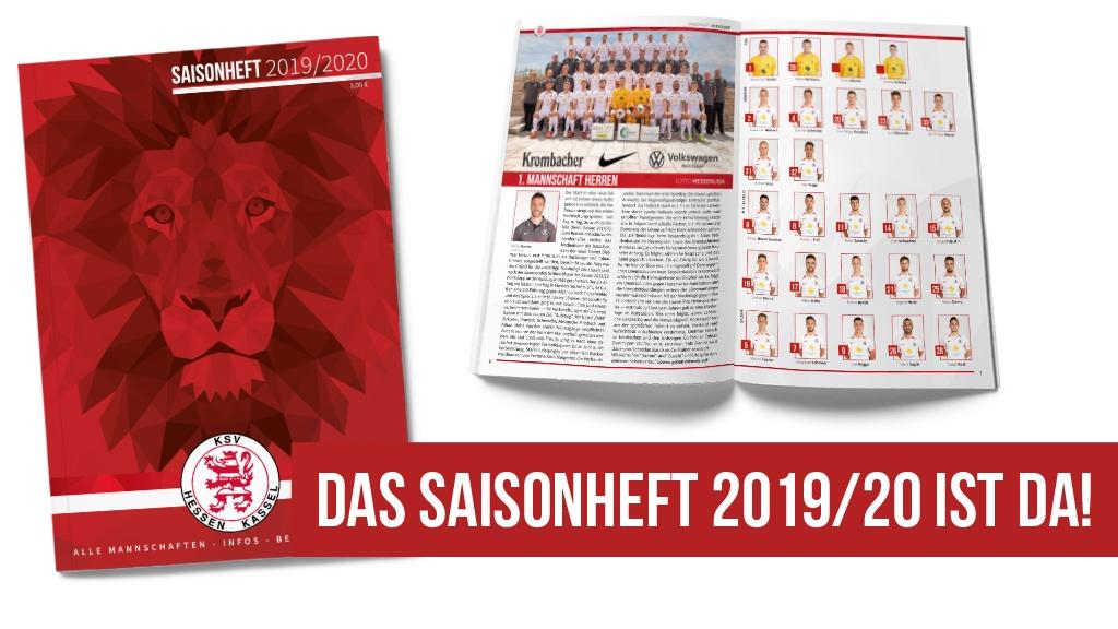Ab sofort ist das offizielle Saisonheft 2019/20 des KSV Hessen Kassel erhältlich