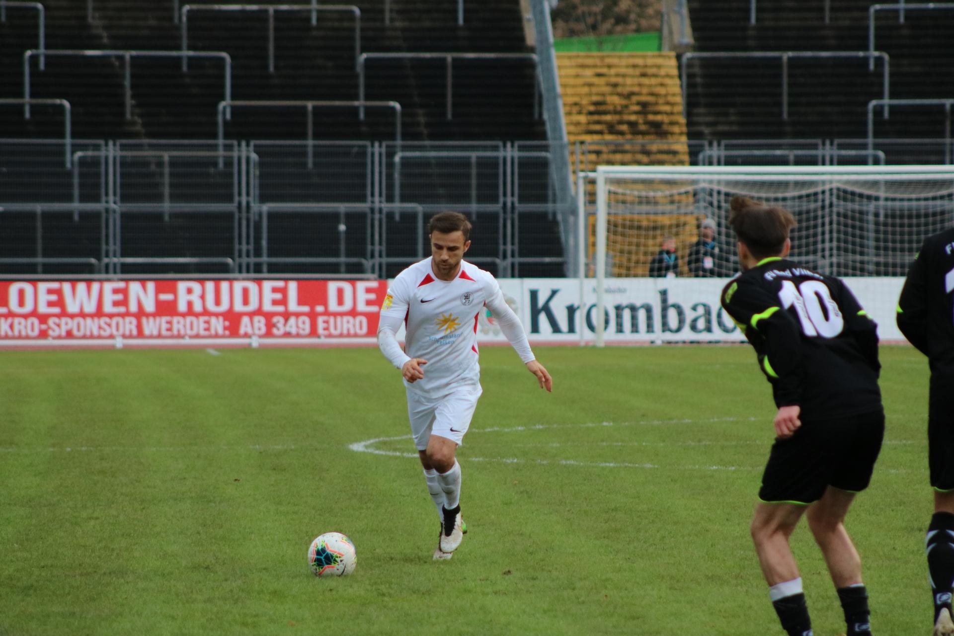 Lotto Hessenliga 2019/2020, KSV Hessen Kassel, FV Bad Vilbel, Endstand 6:1, Alban Meha (KSV Hessen Kassel)