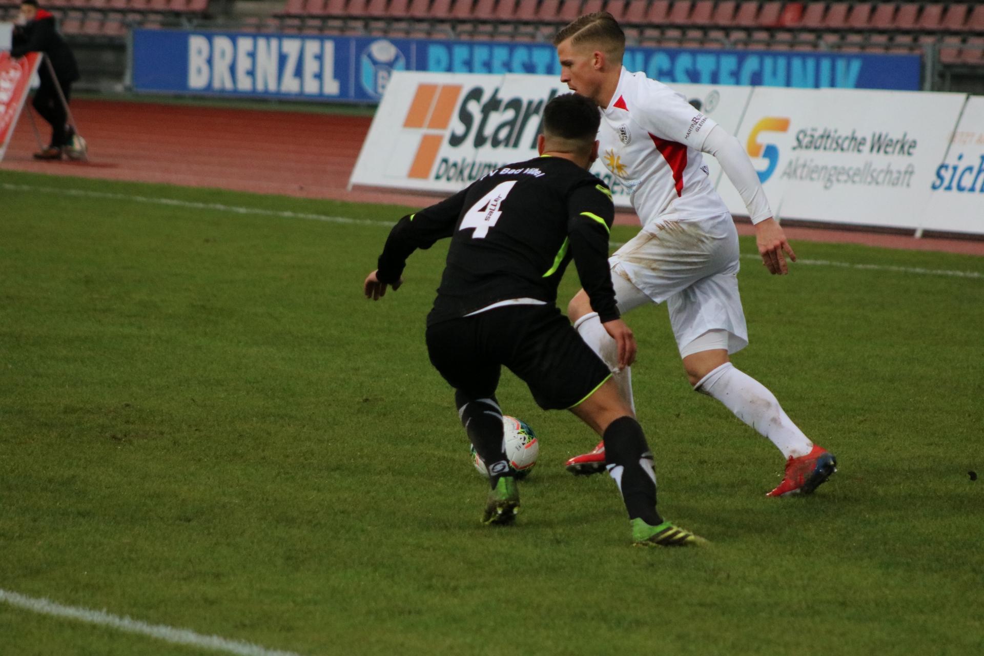 Lotto Hessenliga 2019/2020, KSV Hessen Kassel, FV Bad Vilbel, Endstand 6:1, Tim-Philipp Brandner (KSV Hessen Kassel)