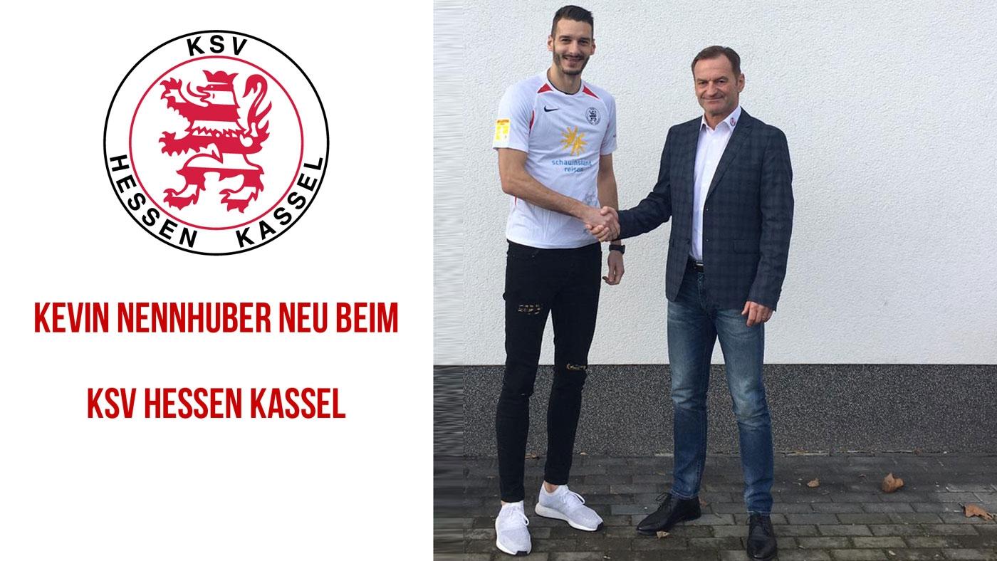 Kevin Nennhuber (links) verstärkt ab sofort die Löwen. Mit Jörg Müller (sportlicher Leiter des KSV Hessen Kassel)
