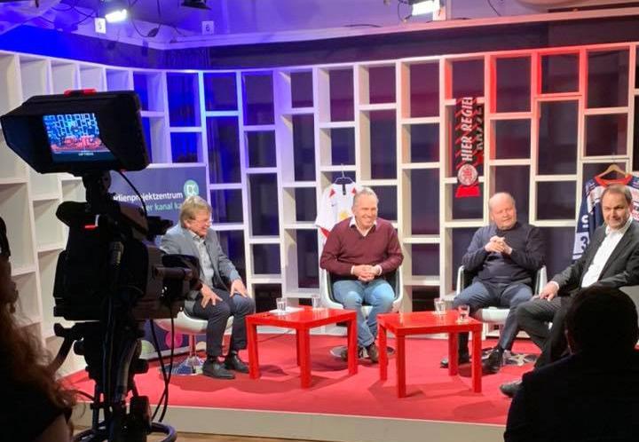 Im Studio des Offenen Kanal Kassels: Armin Ruda, Jens Rose, Joe Gibbs, Oliver Zehe