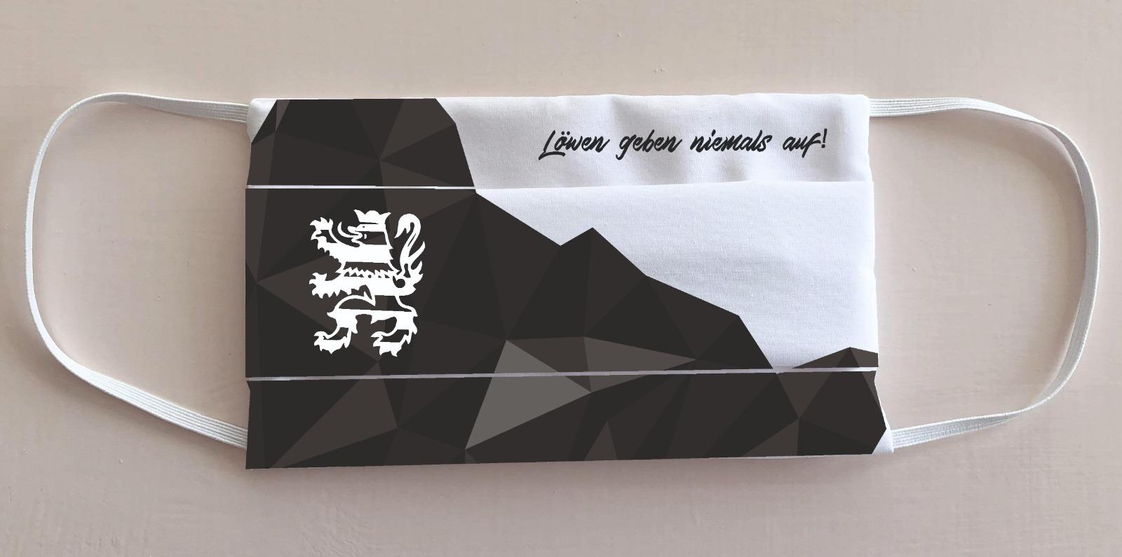 Mund-Nasen-Bedeckung / Maske im KSV-Design