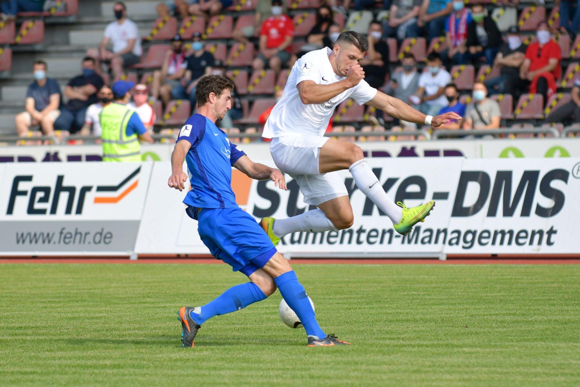 Regionalliga S�dwest 2020/21, KSV Hessen Kassel, TSV Schott Mainz, Endstand 2:1