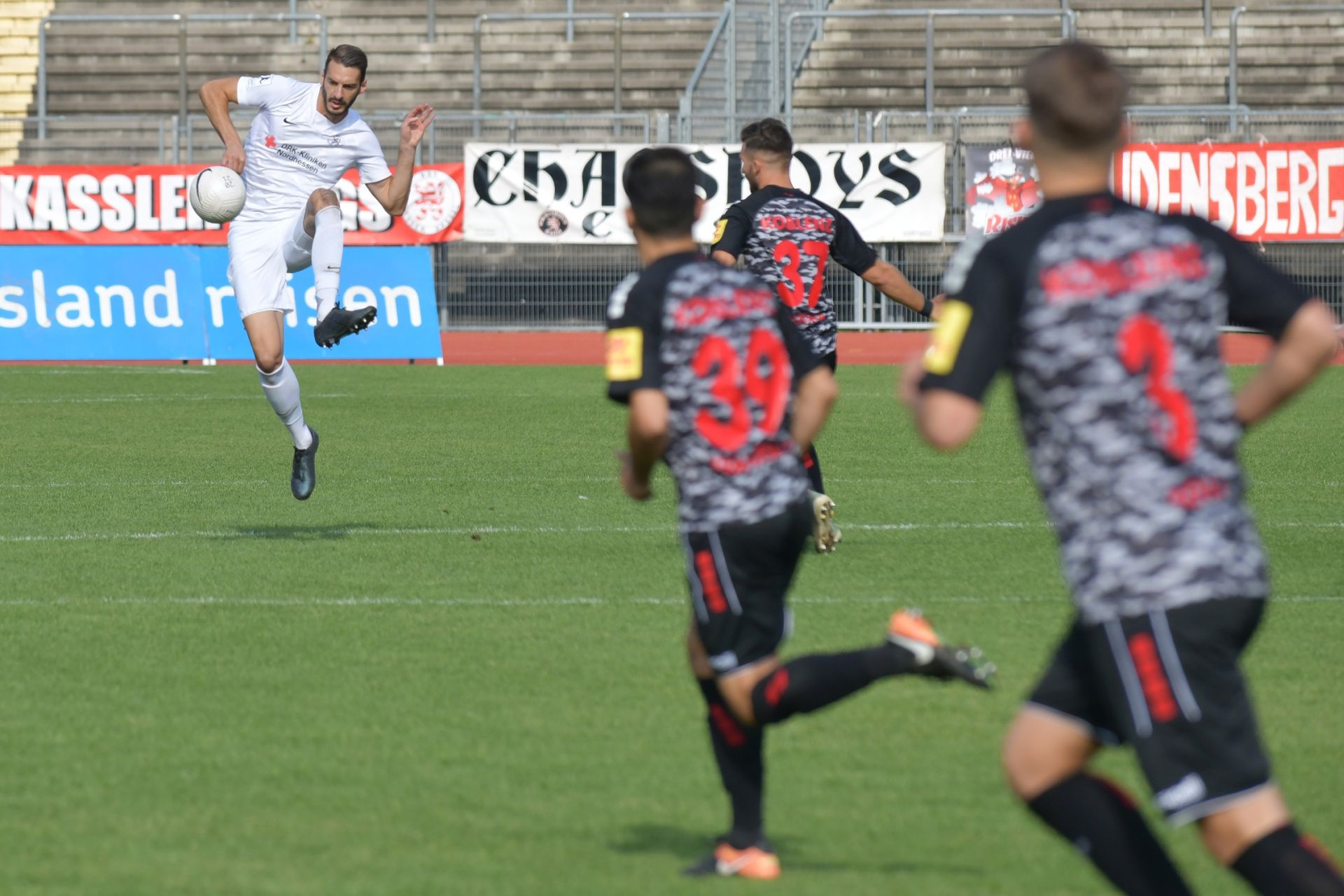 Regionalliga Südwest 2020/21, KSV Hessen Kassel, Rot-Weiss-Koblenz, Endstand 1:1, Kevin Nennhuber